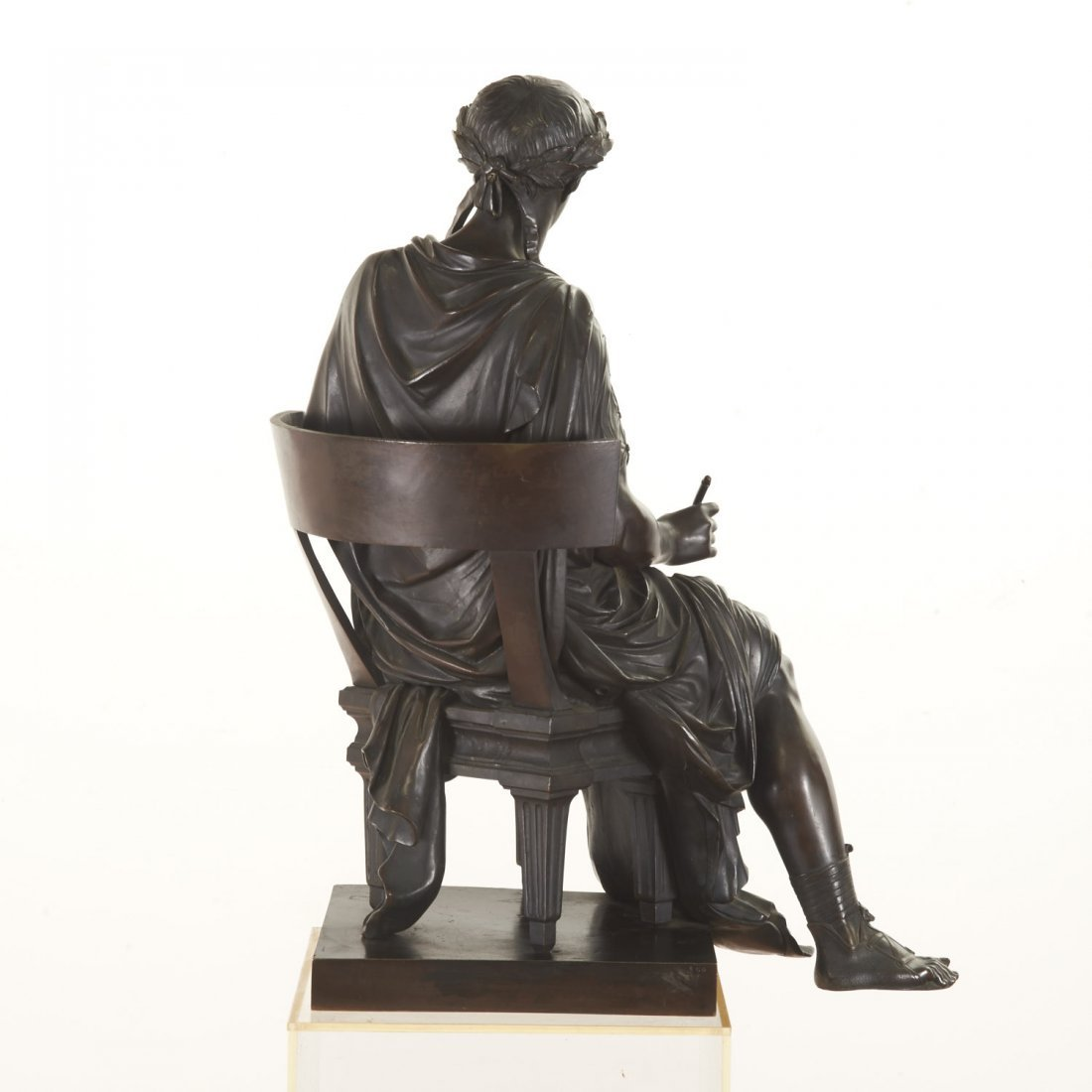 French Bronze figure of the poet Horace - 5