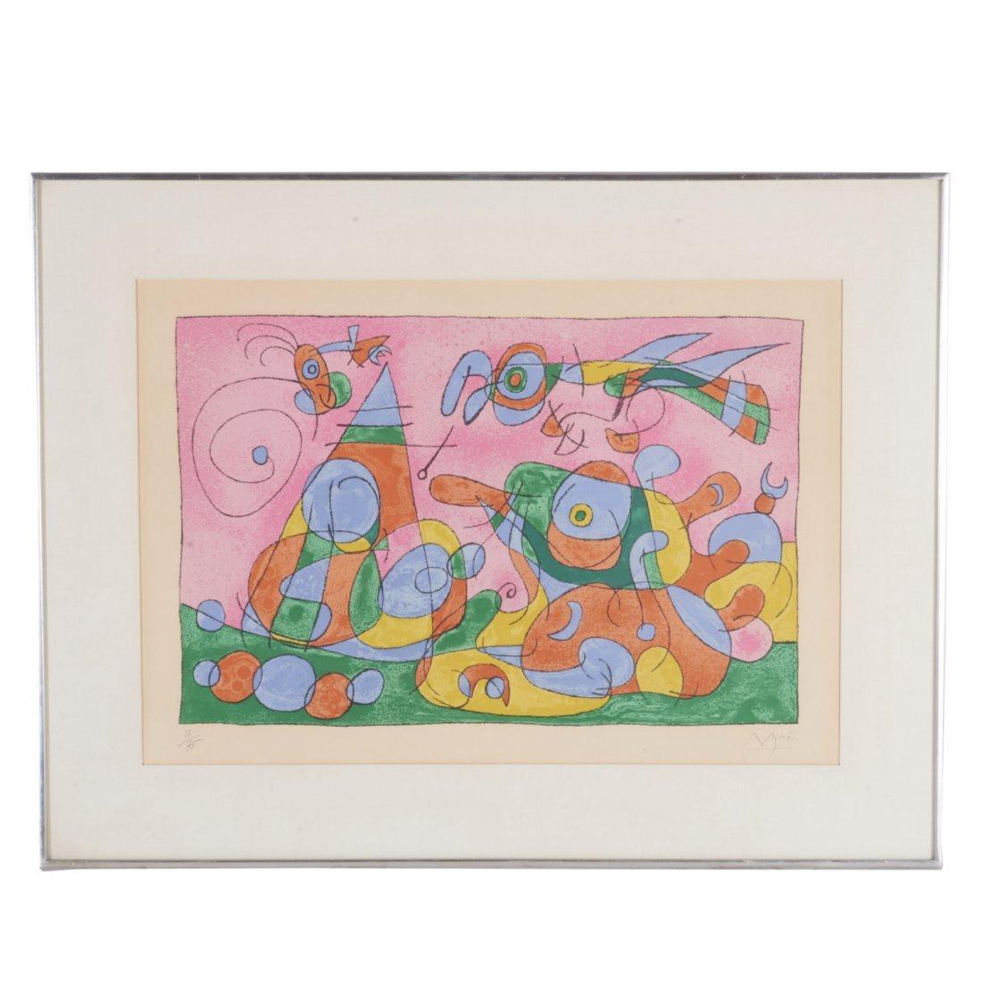 Joan Miro, signed lithograph