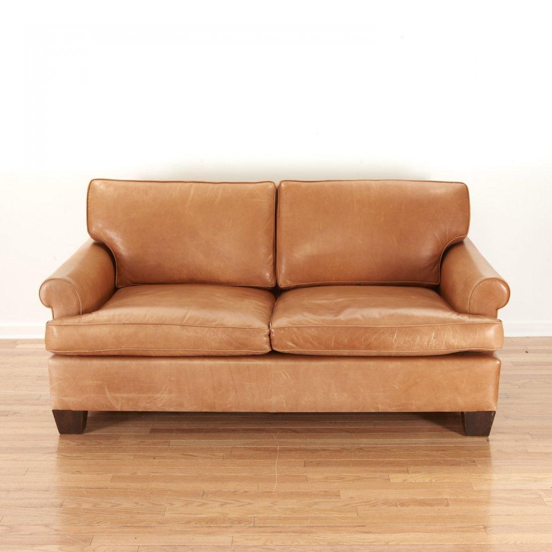Nice Borge Mogensen style leather sleeper sofa