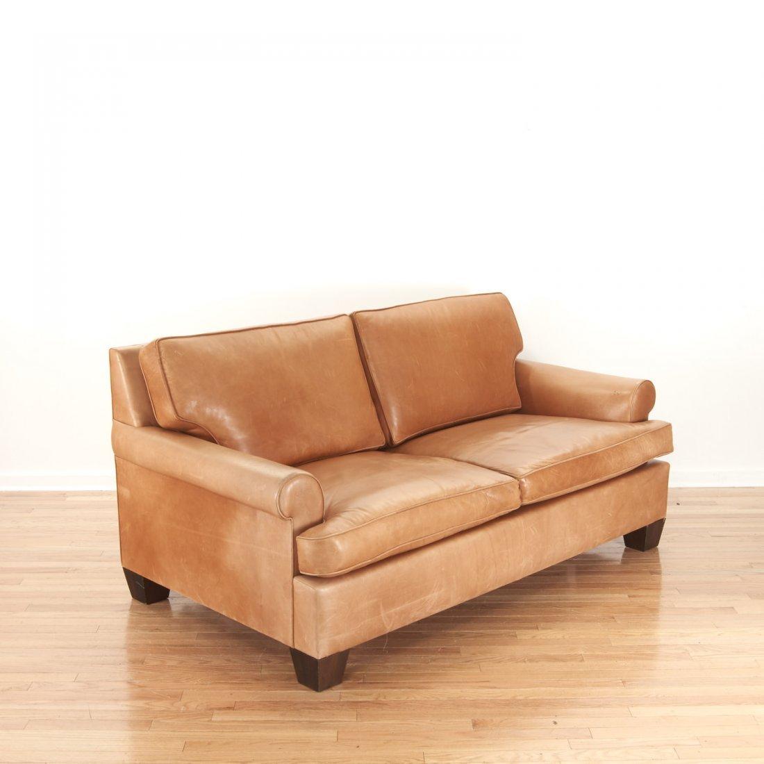 Nice Borge Mogensen style leather sleeper sofa - 2