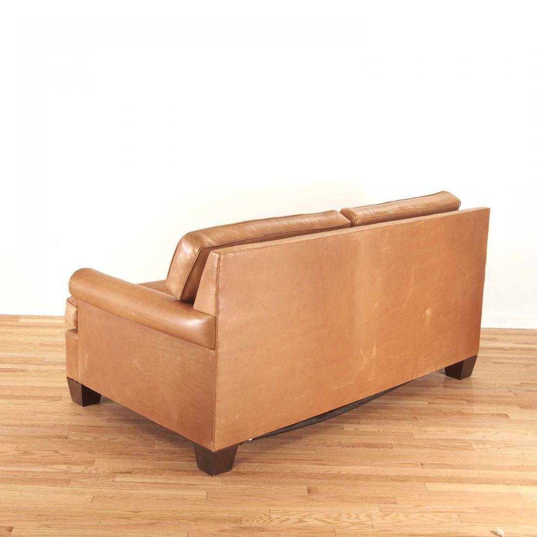 Nice Borge Mogensen style leather sleeper sofa - 4