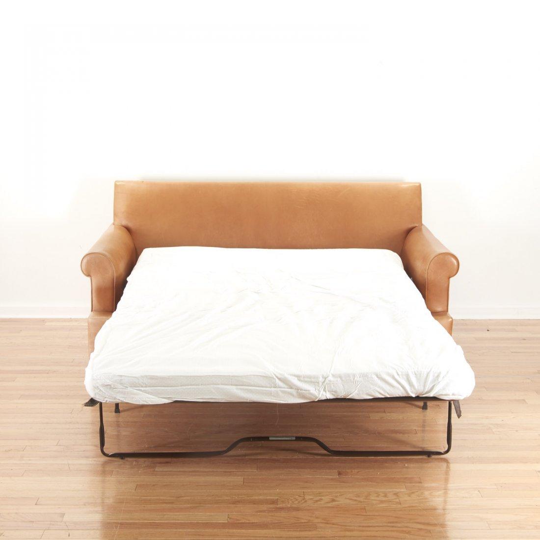 Nice Borge Mogensen style leather sleeper sofa - 5