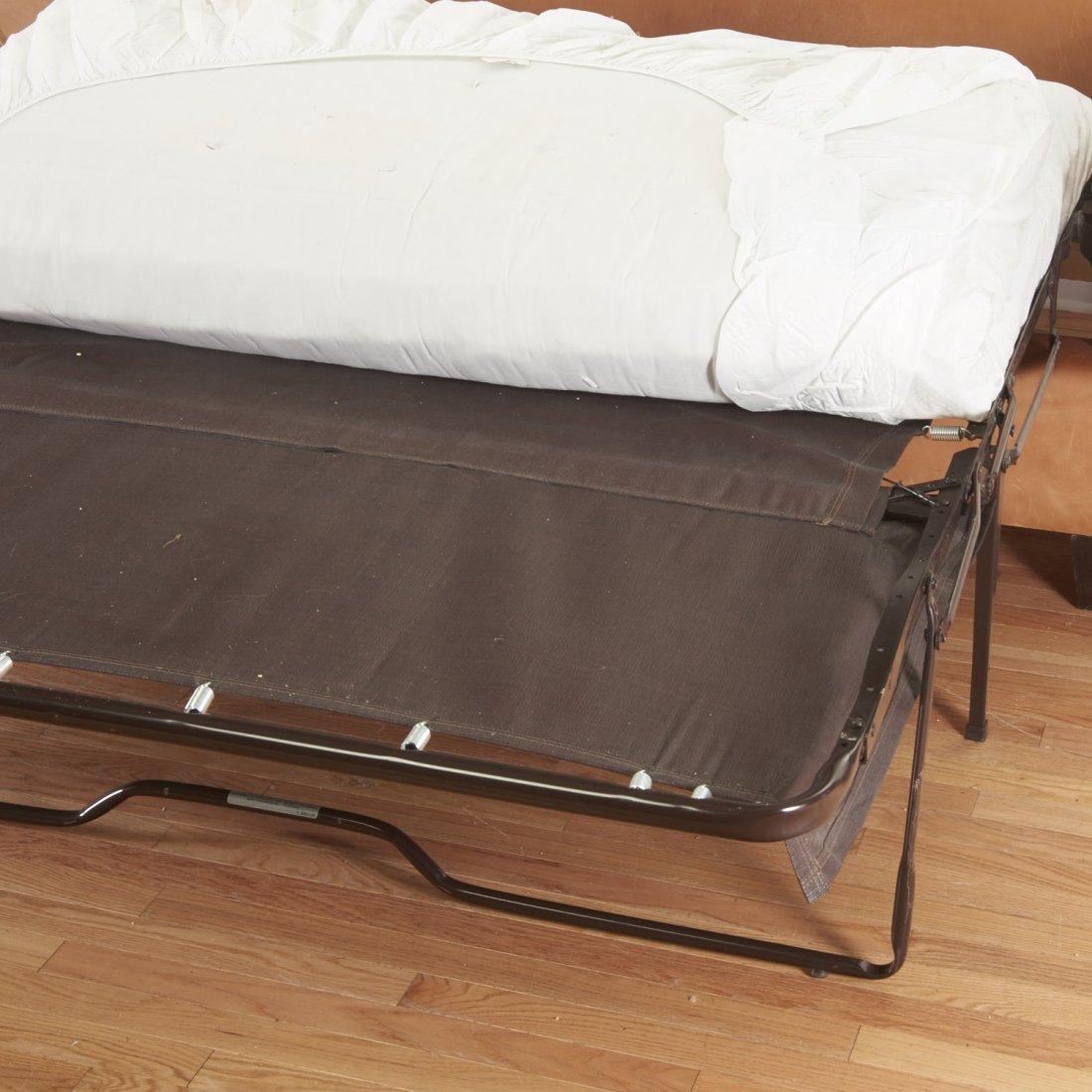 Nice Borge Mogensen style leather sleeper sofa - 6
