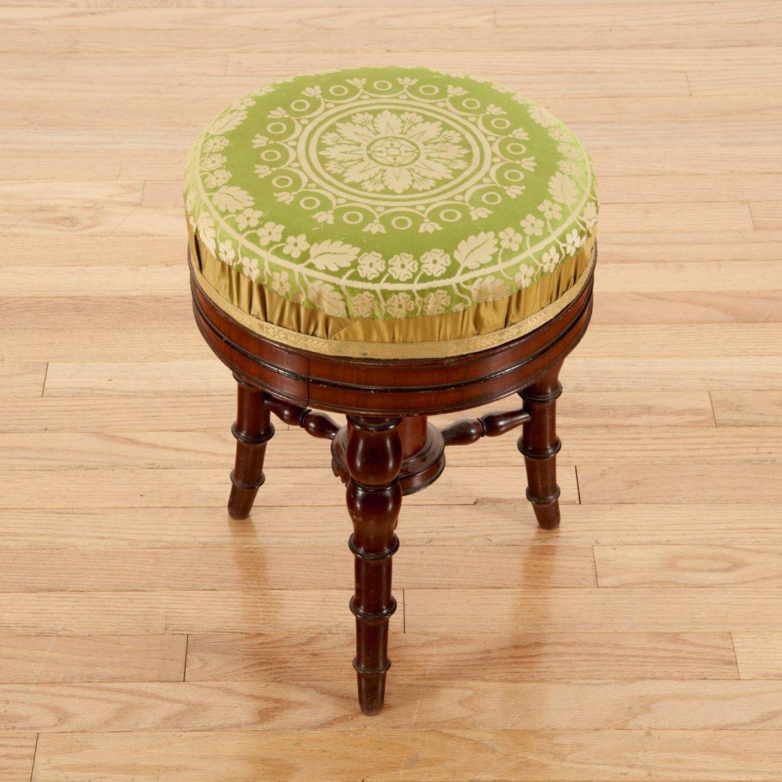 Louis Philippe mahogany bamboo-turned stool