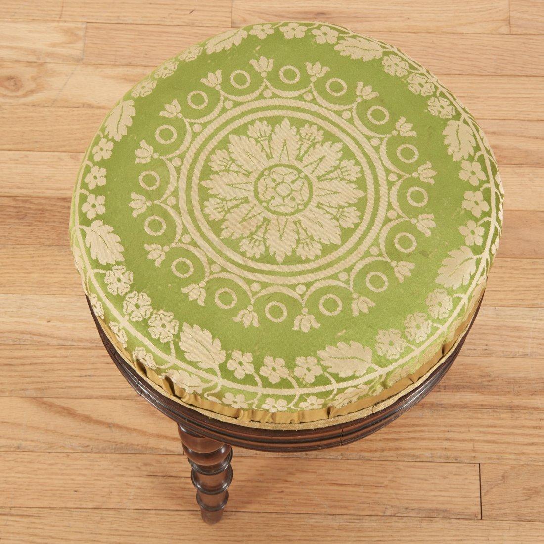 Louis Philippe mahogany bamboo-turned stool - 3