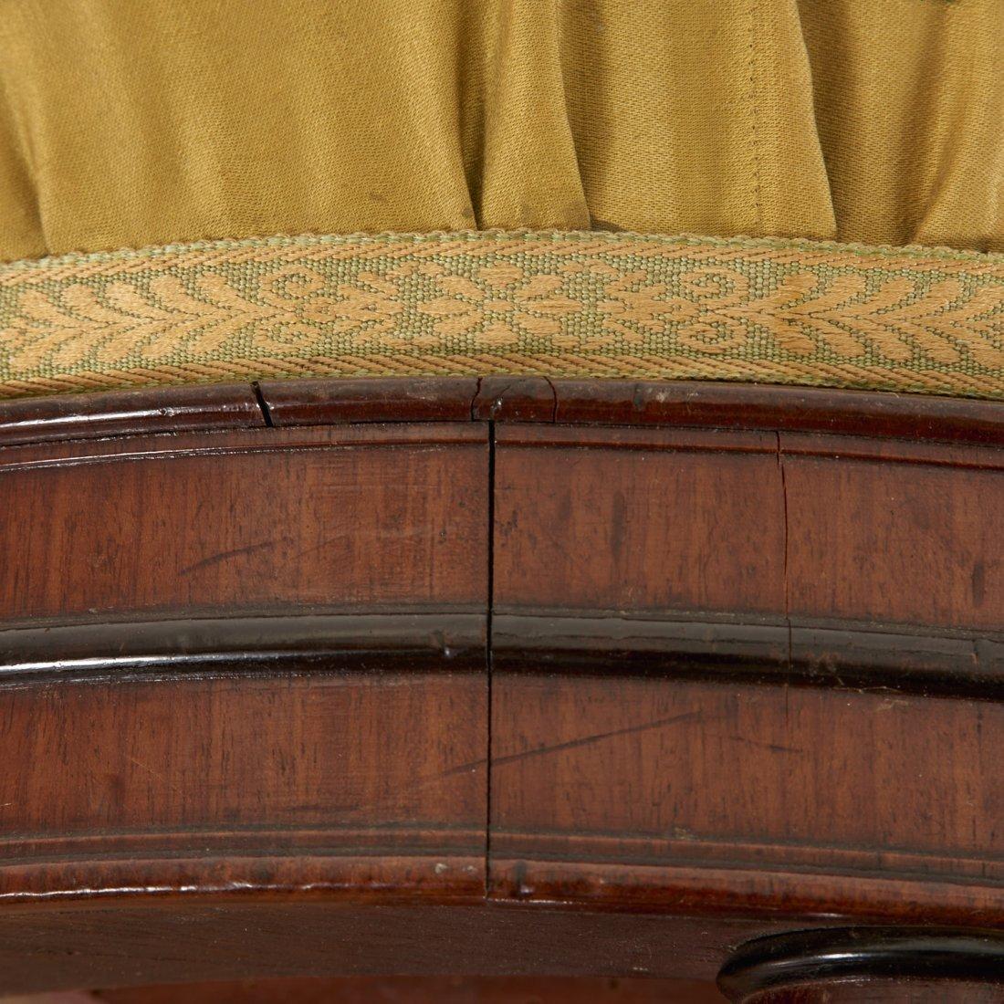 Louis Philippe mahogany bamboo-turned stool - 4