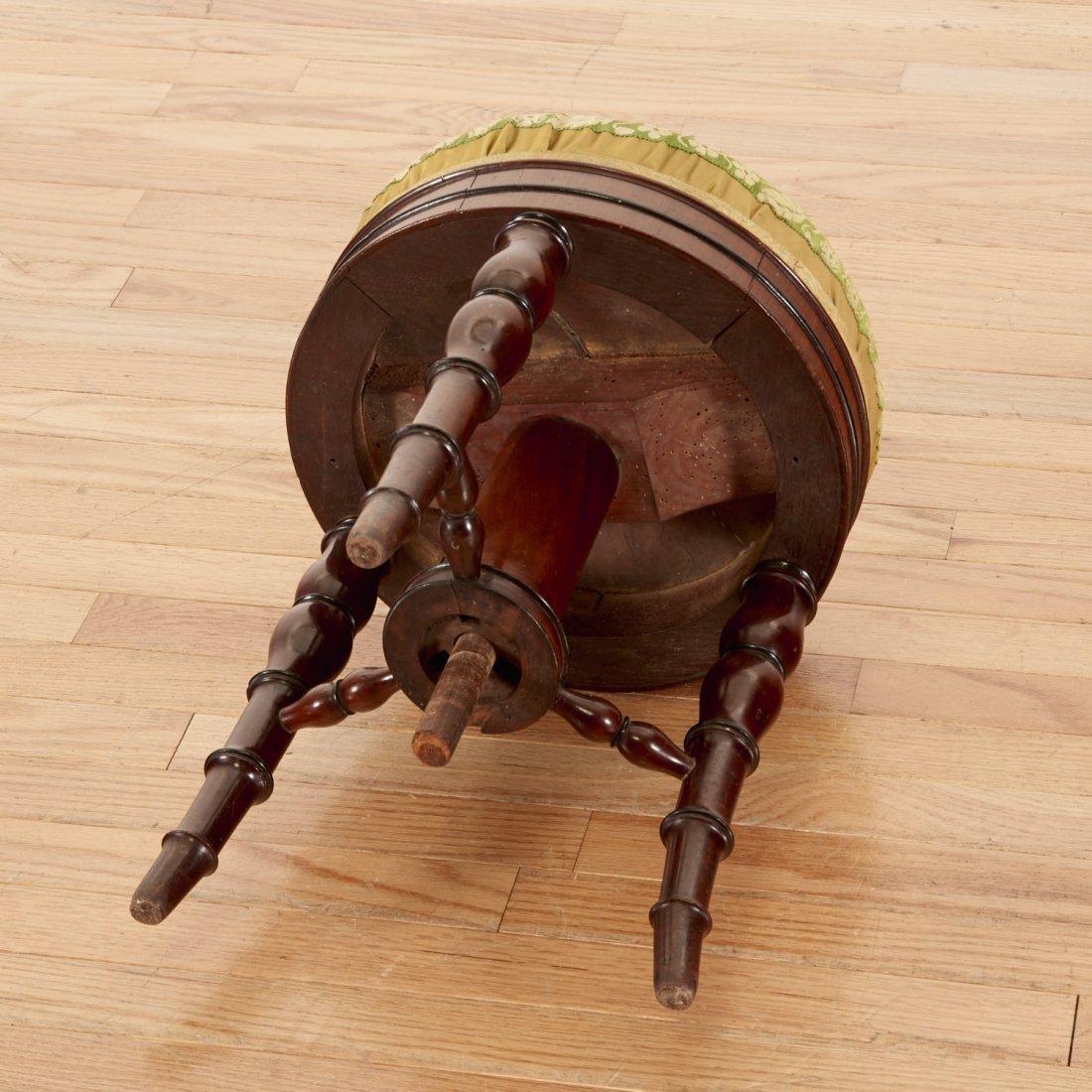Louis Philippe mahogany bamboo-turned stool - 5