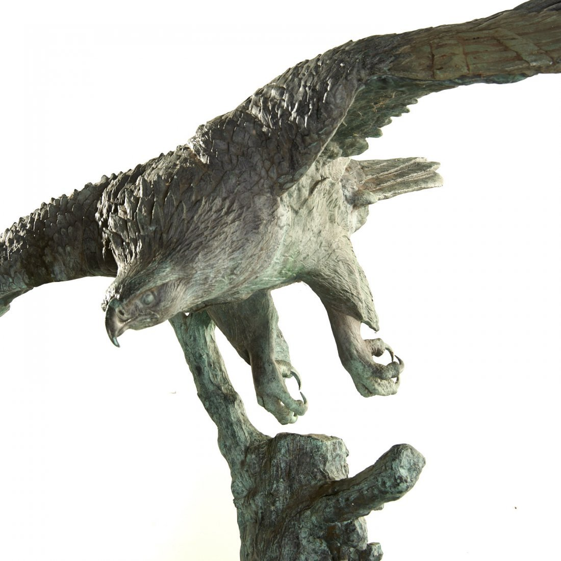 A.B. Burton Foundry, monumental bronze eagle - 4