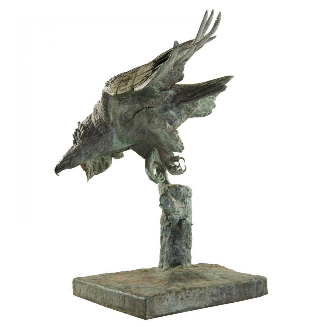 A.B. Burton Foundry, monumental bronze eagle - 6