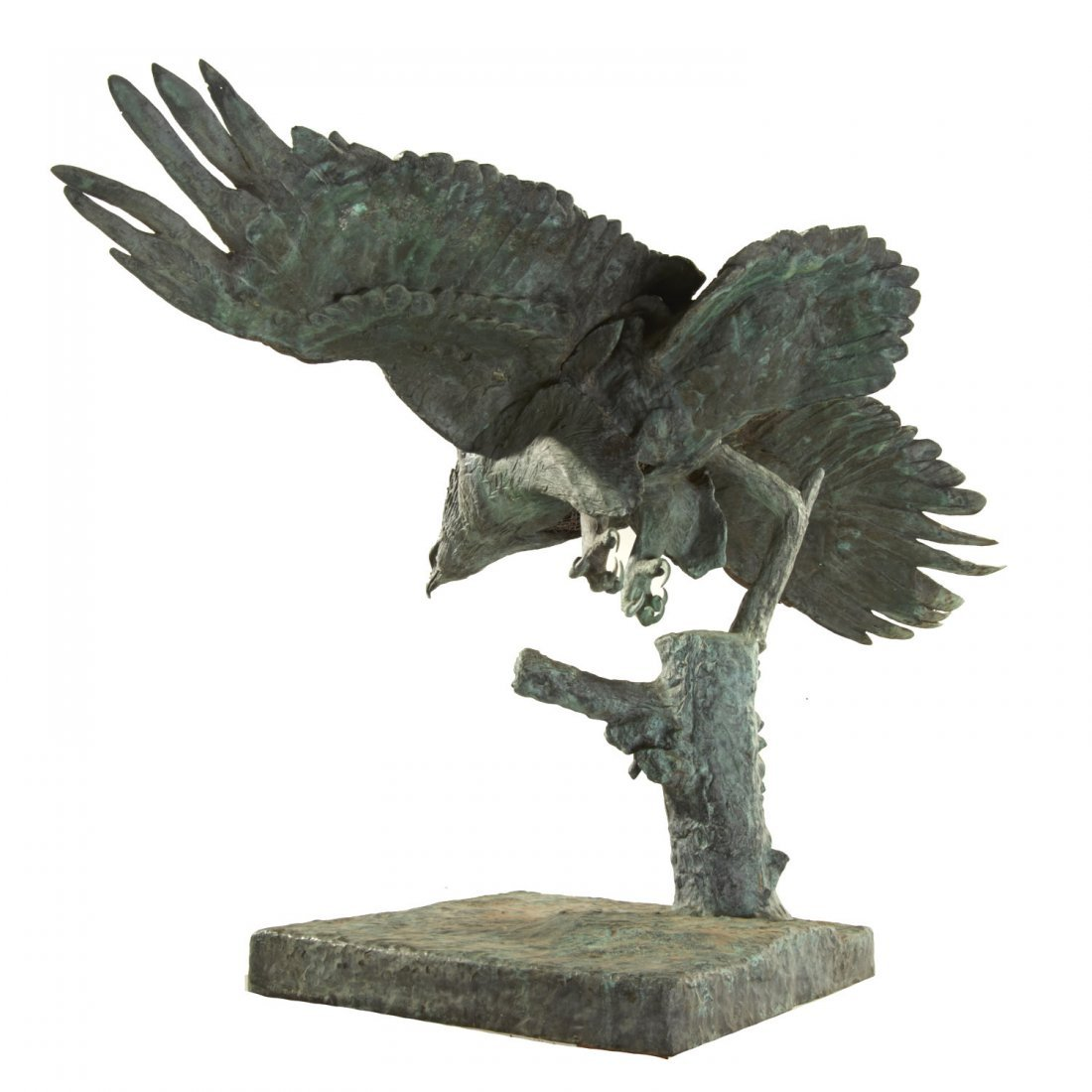 A.B. Burton Foundry, monumental bronze eagle - 8