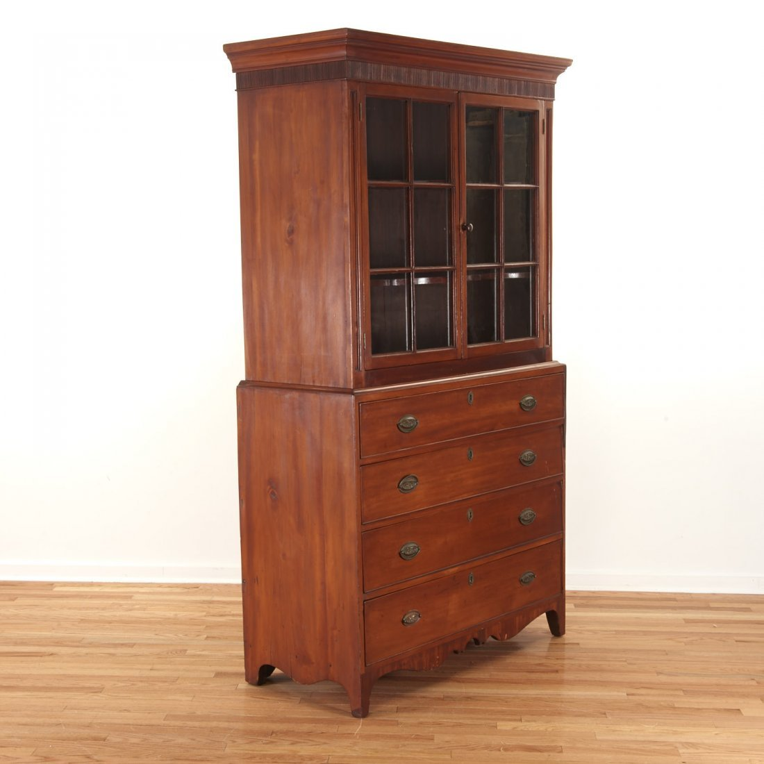 American Federal cherrywood bookcase cabinet - 2
