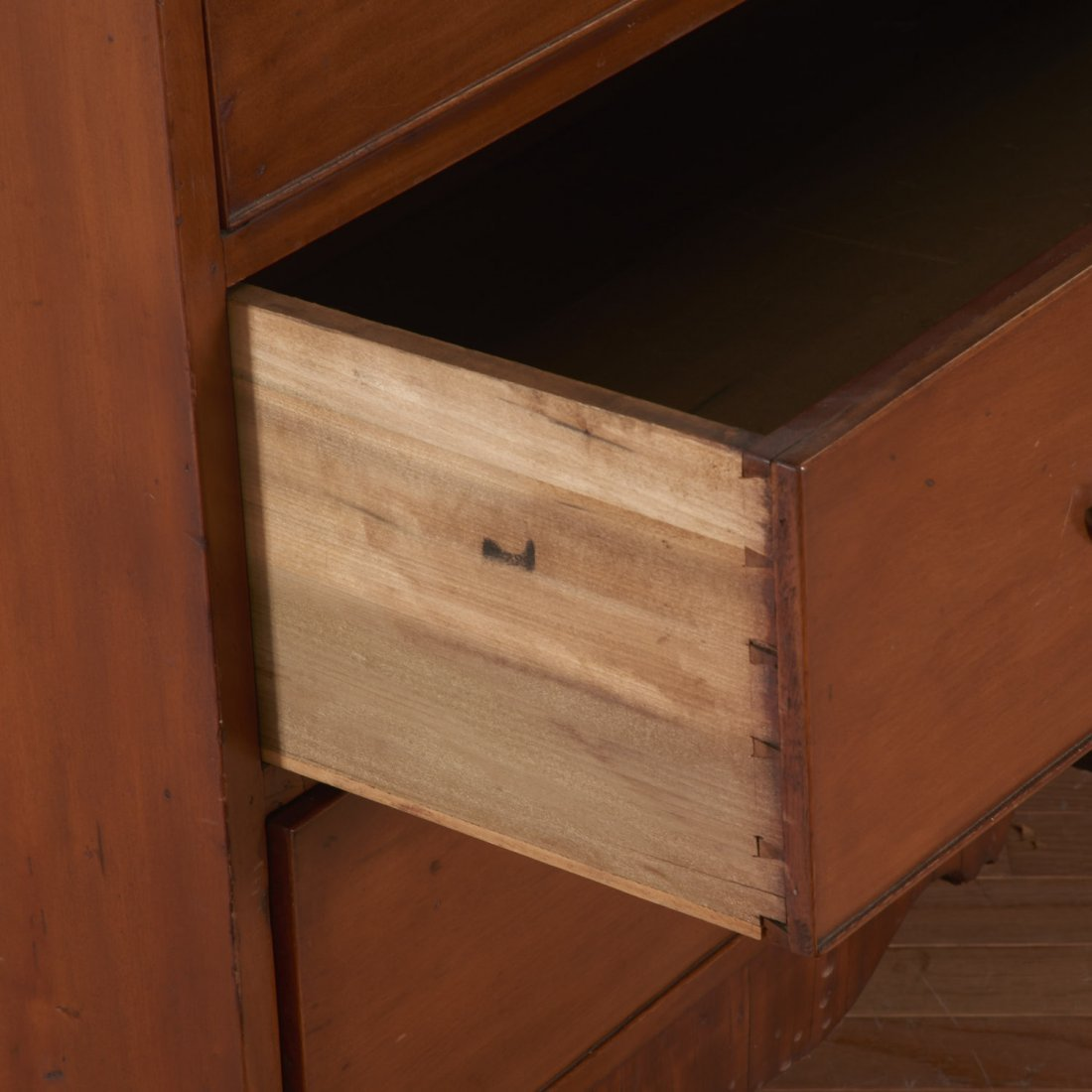 American Federal cherrywood bookcase cabinet - 4