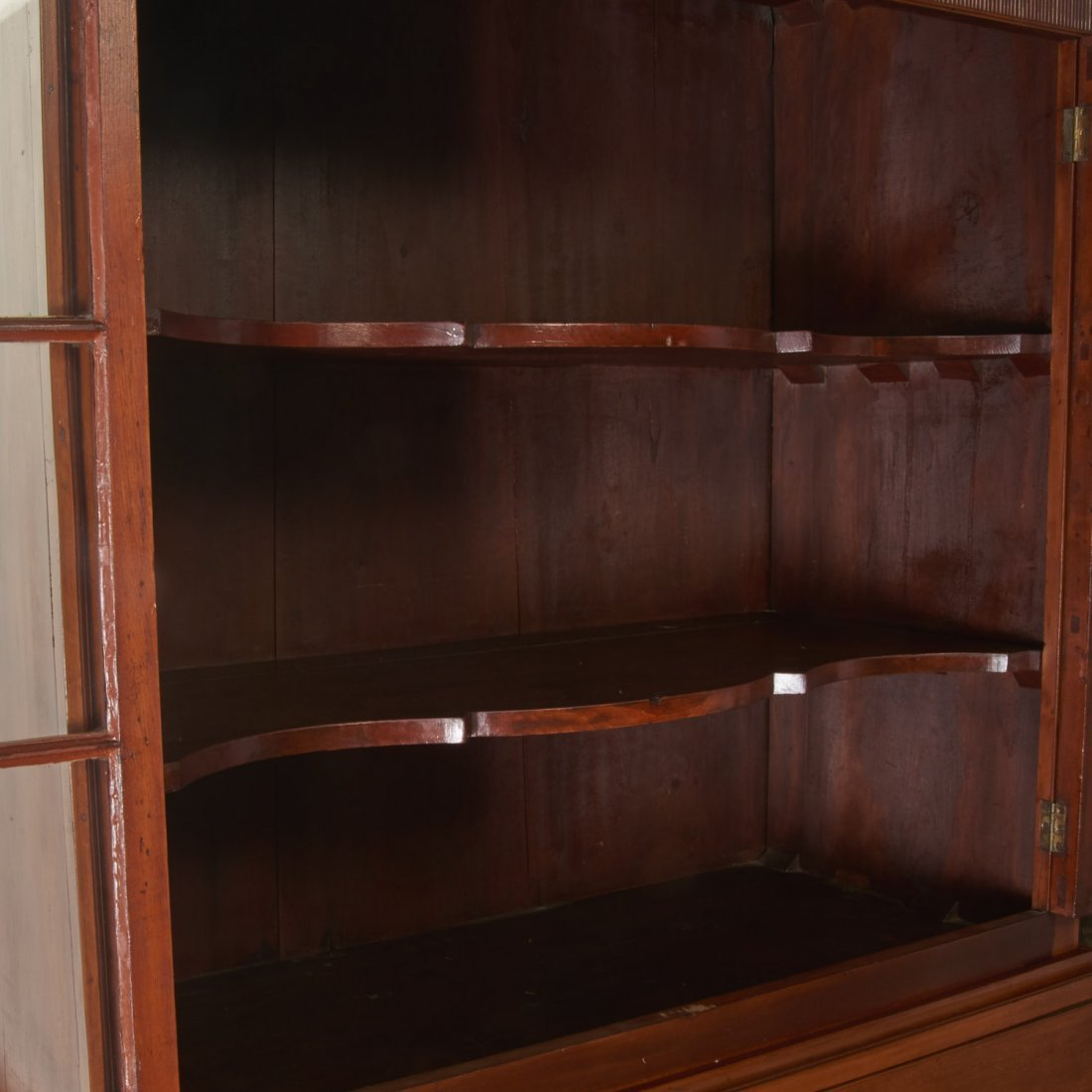 American Federal cherrywood bookcase cabinet - 6