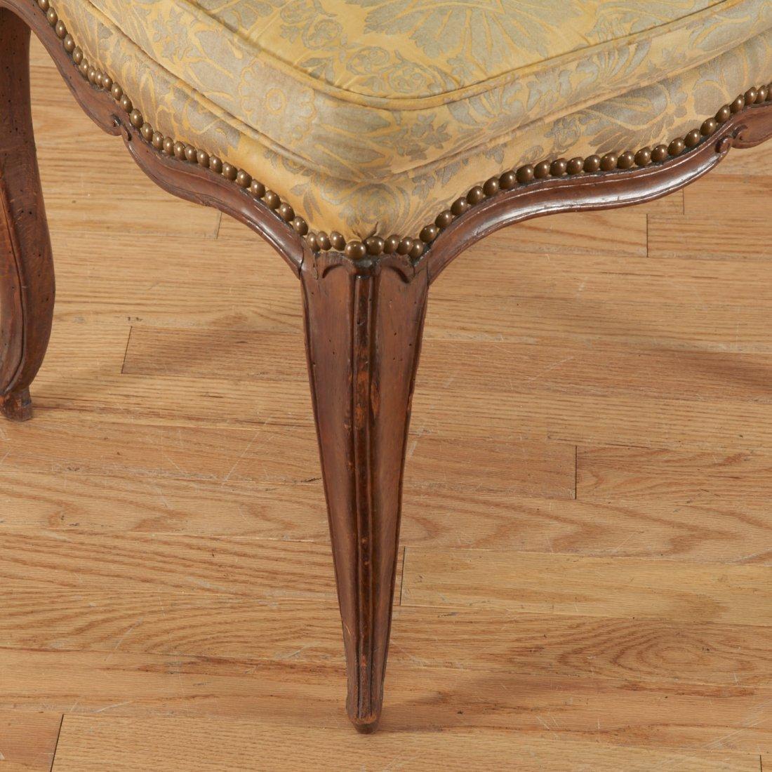 Pair Italian Provincial walnut side chairs - 3
