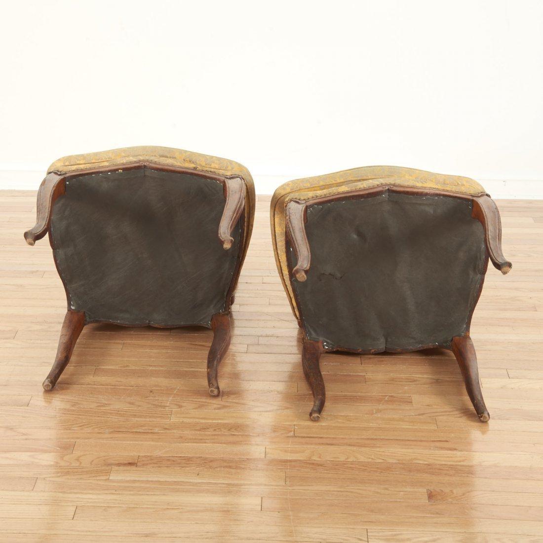 Pair Italian Provincial walnut side chairs - 7