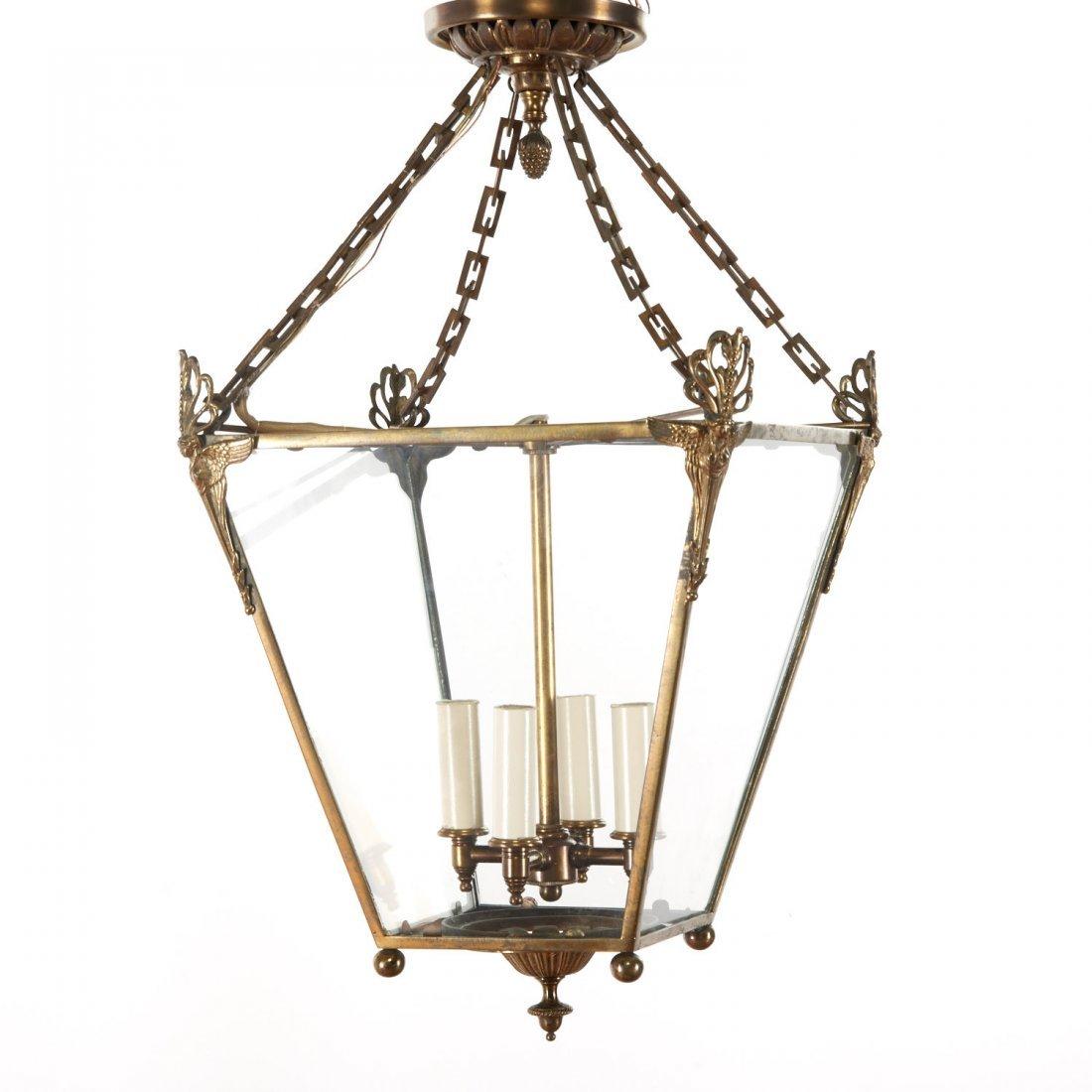 Neo-Classical style gilt metal hall lantern