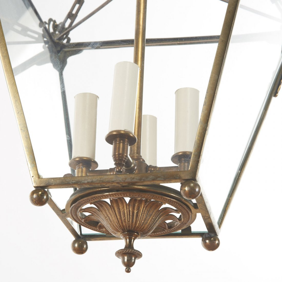 Neo-Classical style gilt metal hall lantern - 2