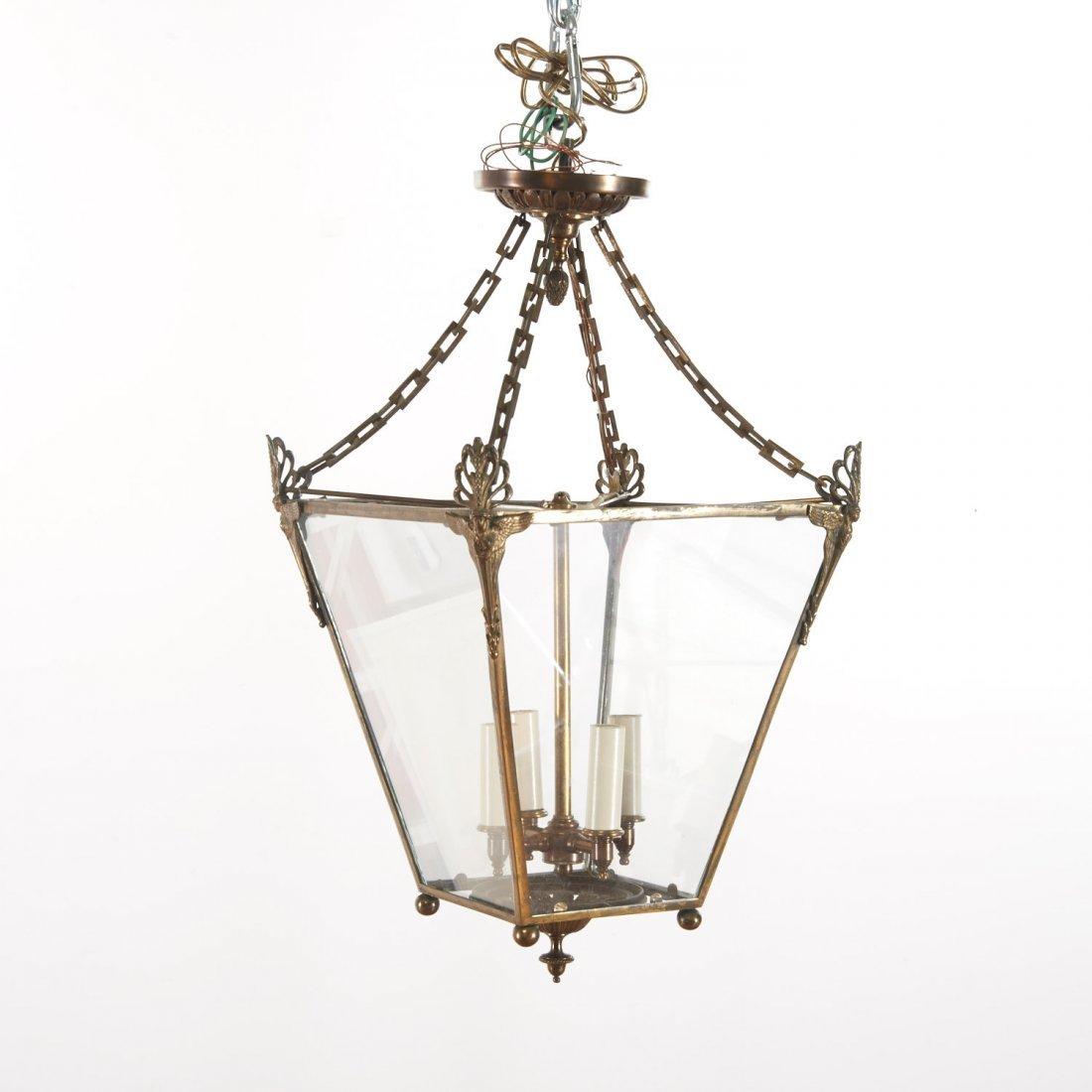 Neo-Classical style gilt metal hall lantern - 4