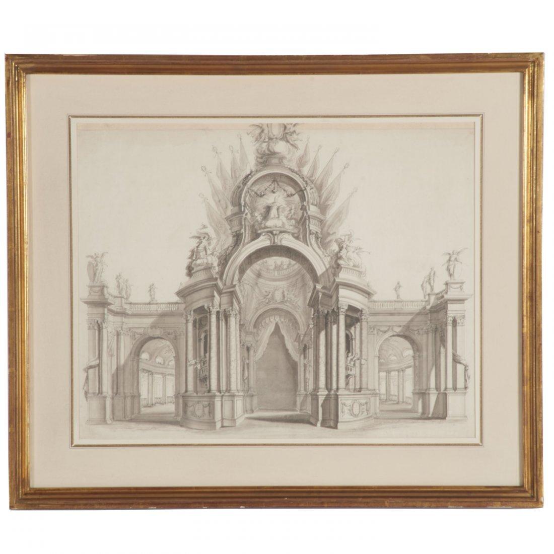 Vincenz Fischer, architectural rendering