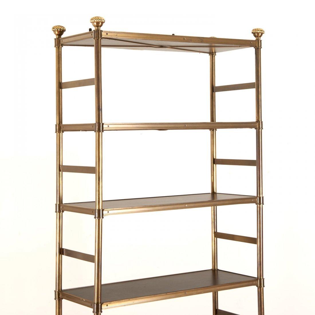 Attr. Maison Jansen brass, ebonized wood etagere - 2