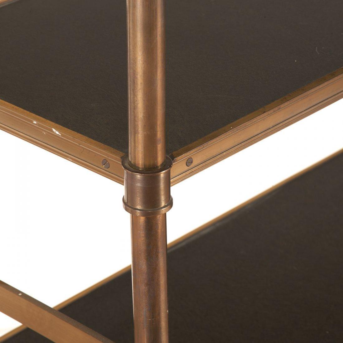 Attr. Maison Jansen brass, ebonized wood etagere - 4