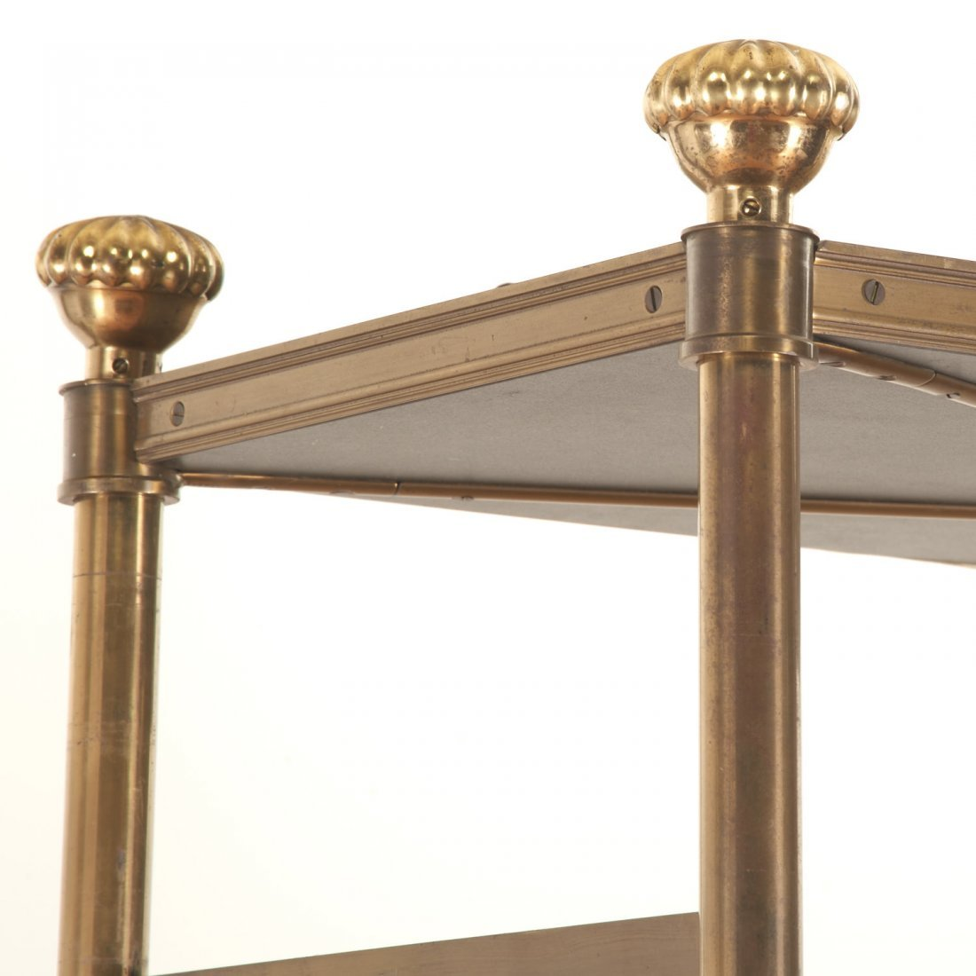 Attr. Maison Jansen brass, ebonized wood etagere - 5