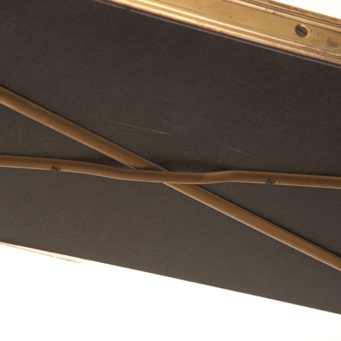 Attr. Maison Jansen brass, ebonized wood etagere - 6