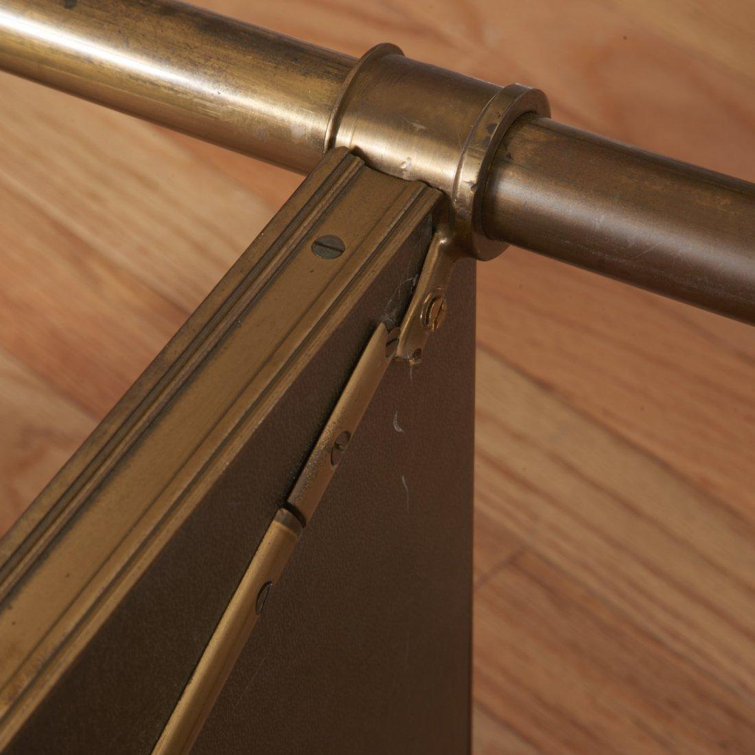 Attr. Maison Jansen brass, ebonized wood etagere - 7
