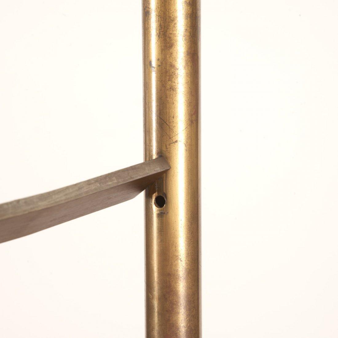 Attr. Maison Jansen brass, ebonized wood etagere - 9