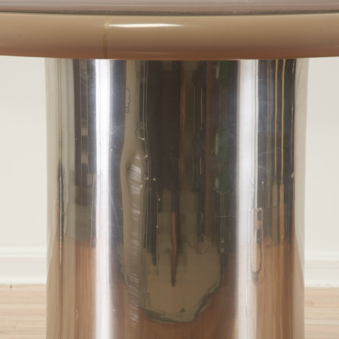 Karl Springer style chrome, acrylic dining table - 3
