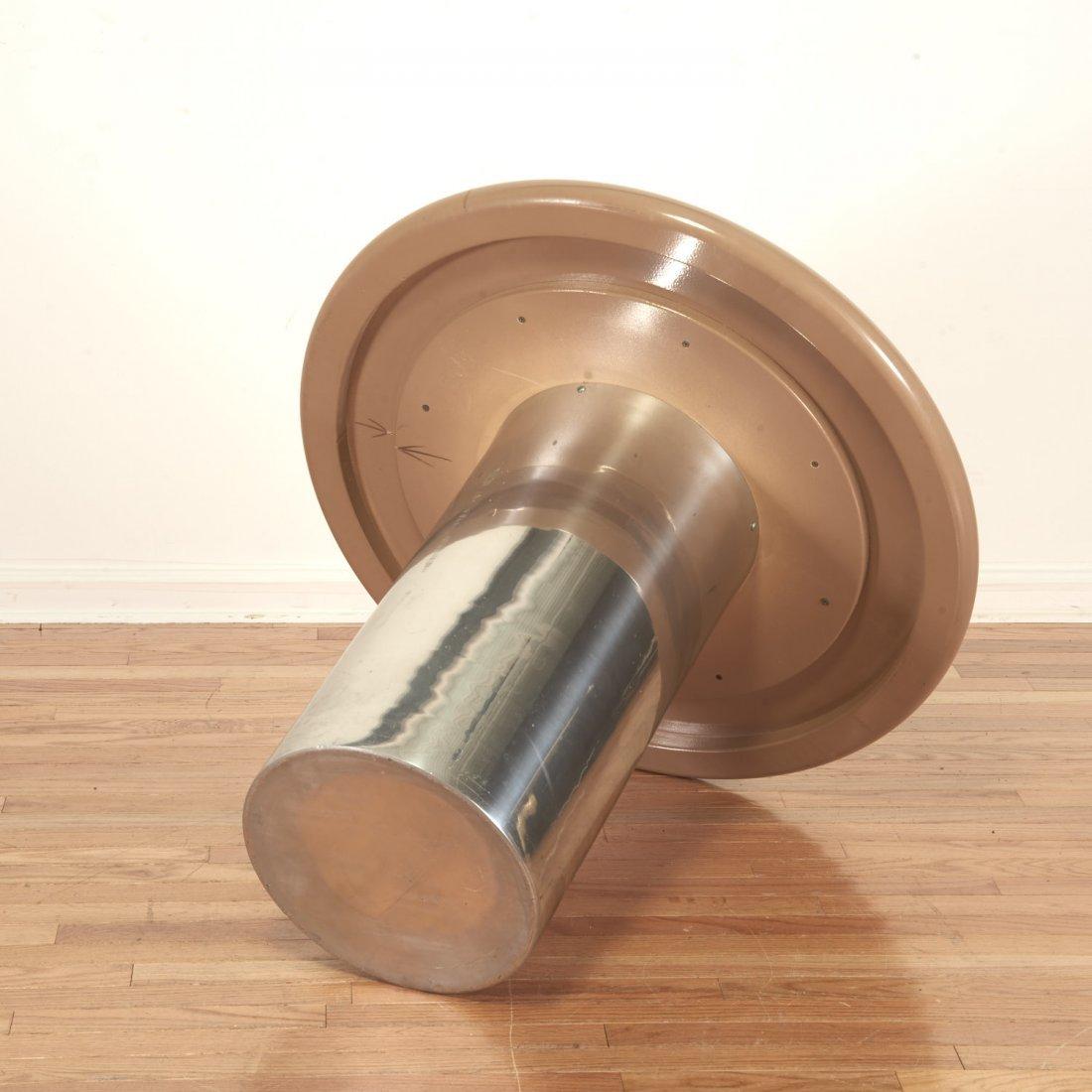 Karl Springer style chrome, acrylic dining table - 5