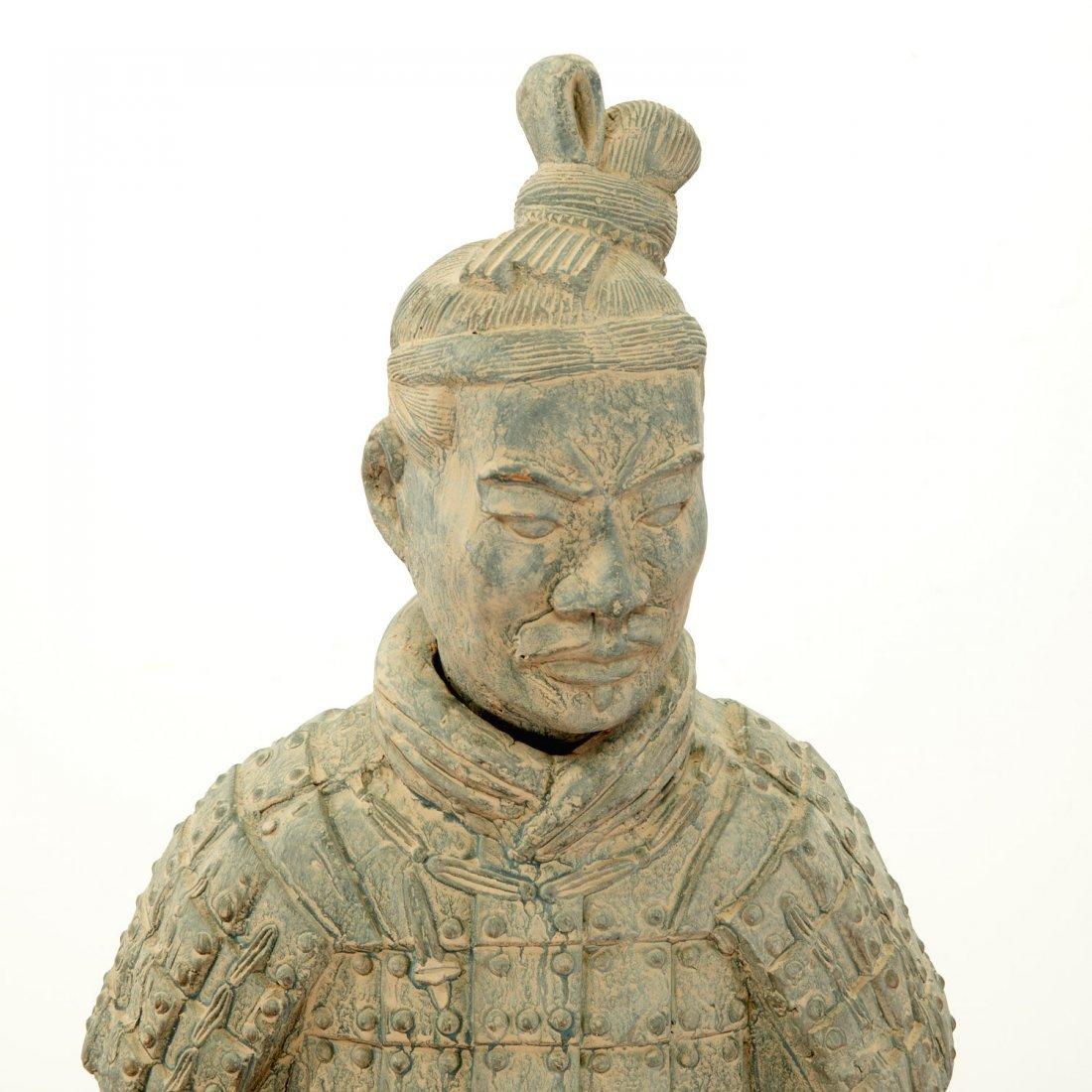 Near life-size Xian style terra-cotta warrior - 2