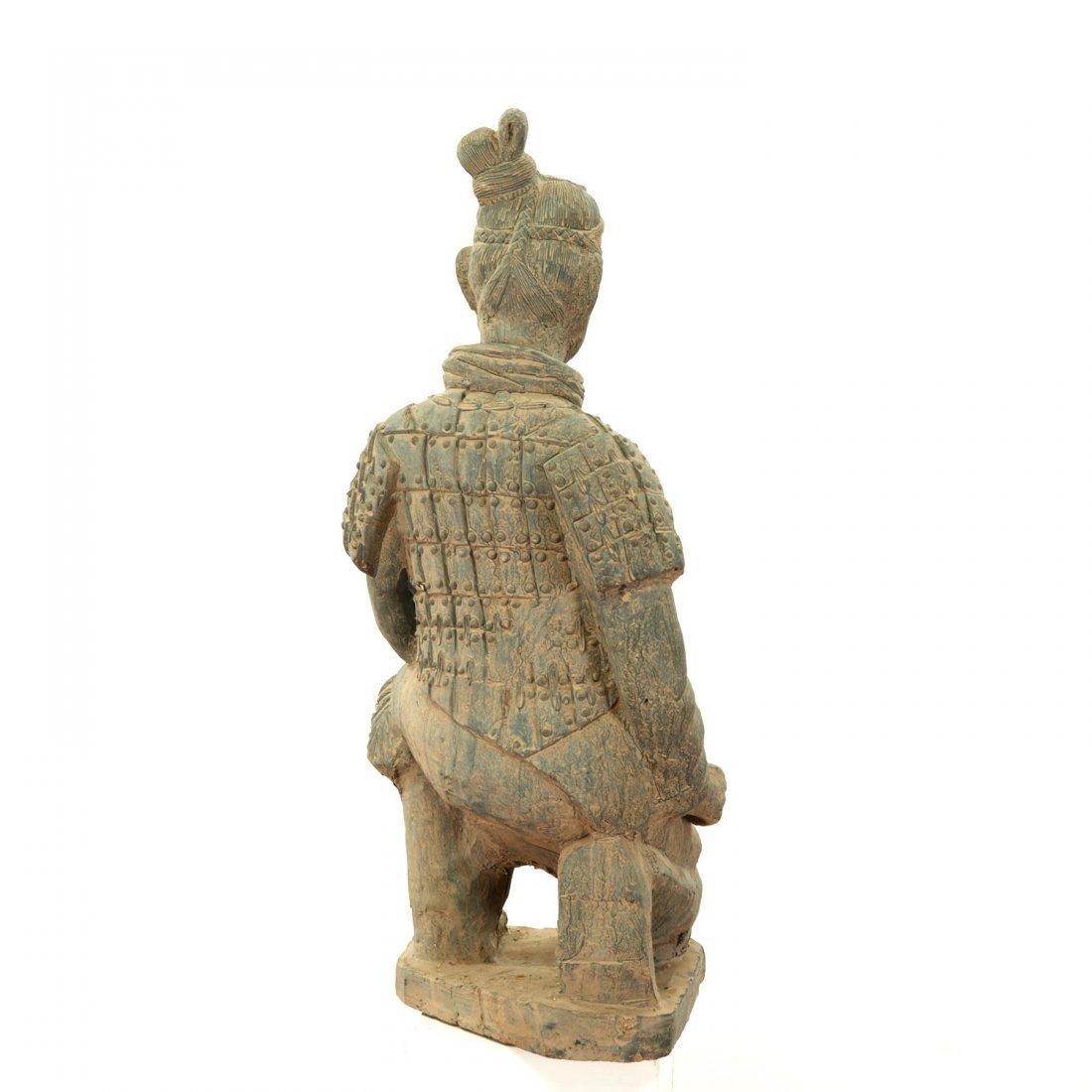 Near life-size Xian style terra-cotta warrior - 4