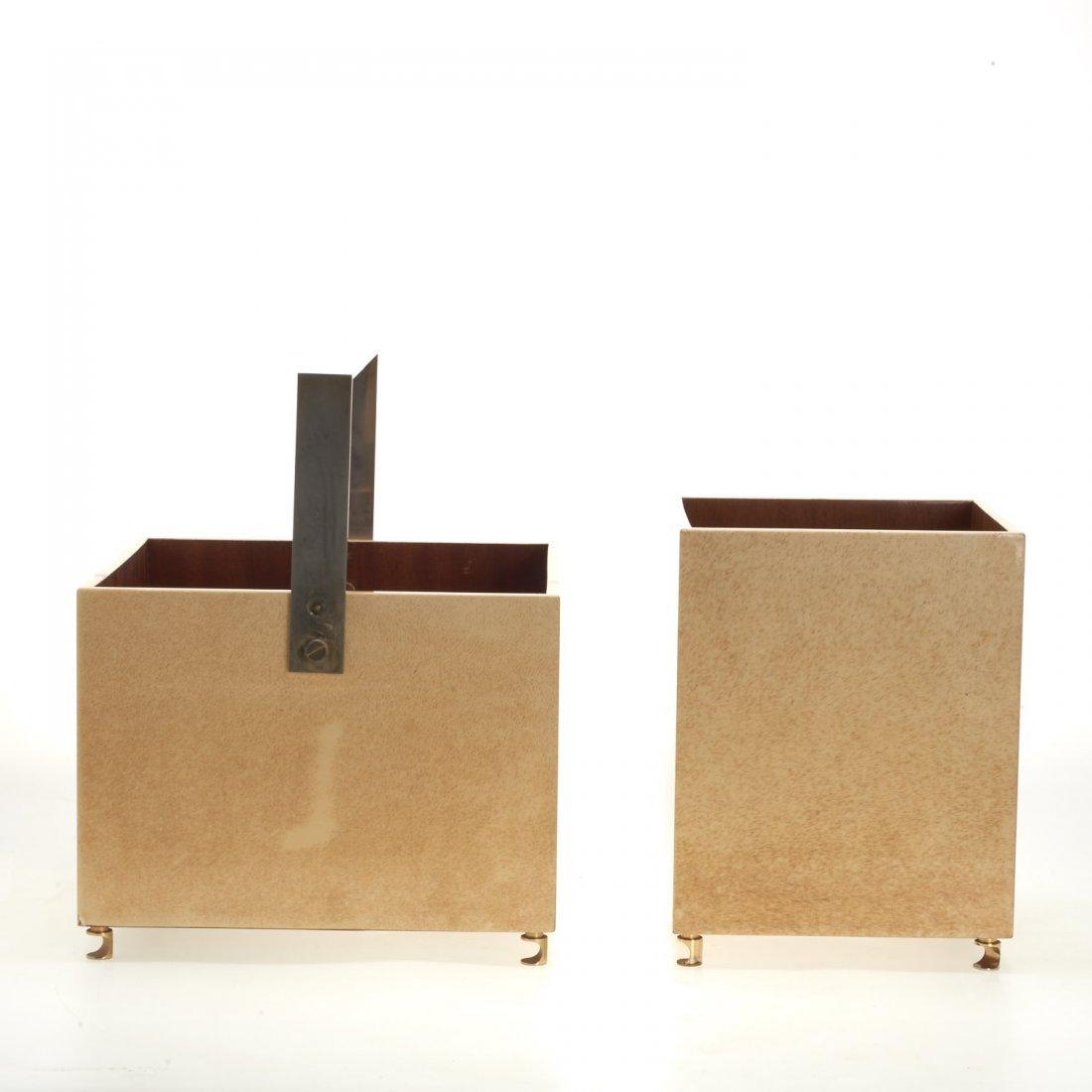 (2) Aldo Tura parchment baskets - 4