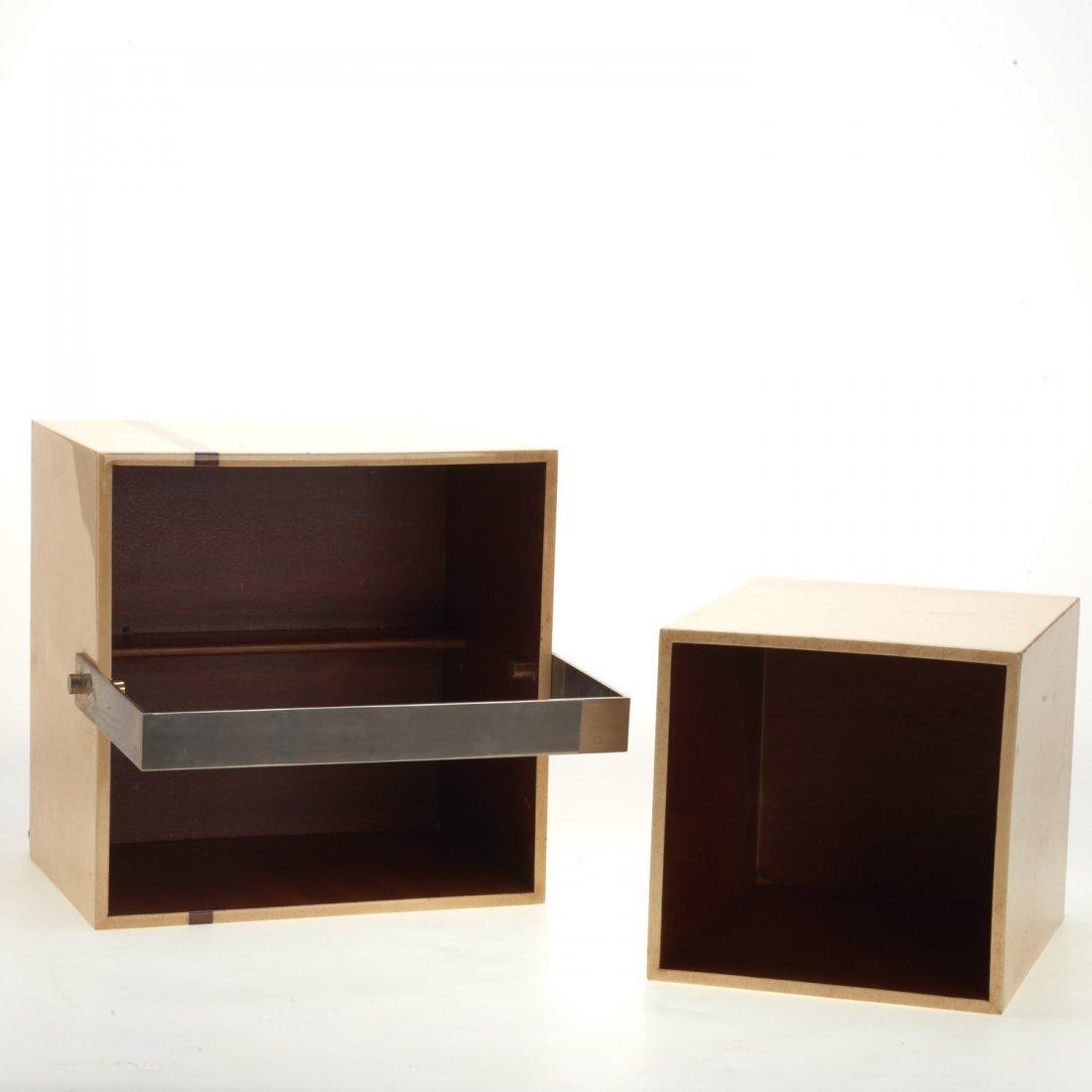 (2) Aldo Tura parchment baskets - 7