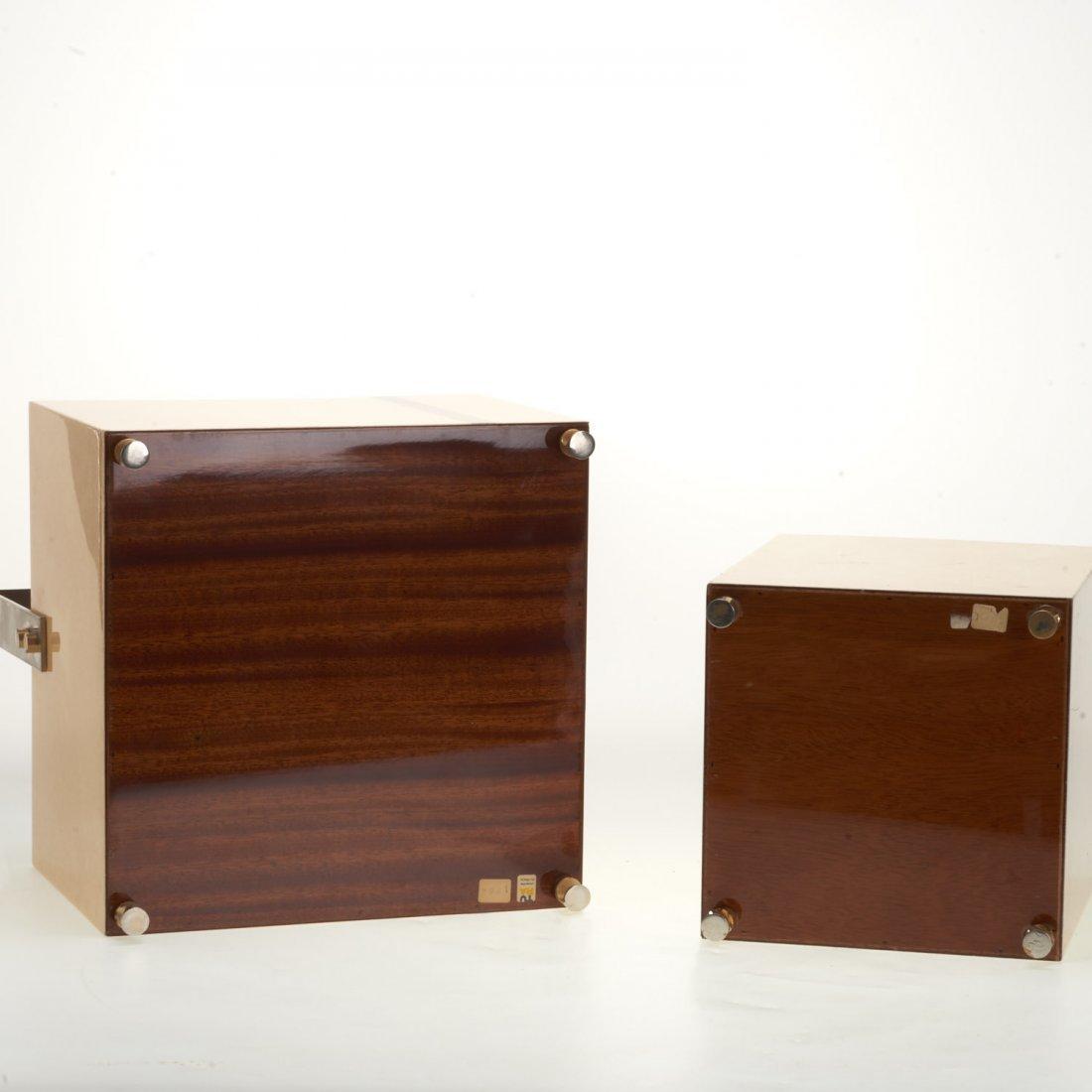 (2) Aldo Tura parchment baskets - 8