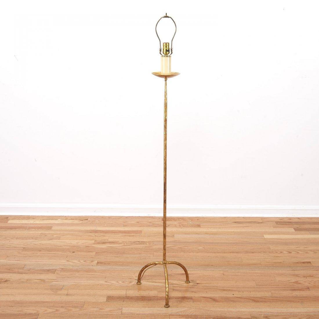 Manner Felix Agostini gilt bronze floor lamp