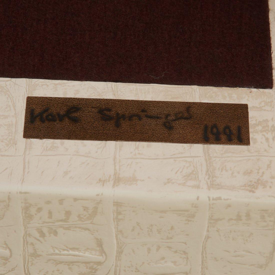 Karl Springer white faux gator sculpture bench - 5