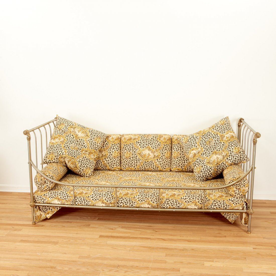 Maison Jansen style brass, steel campaign bed - 2