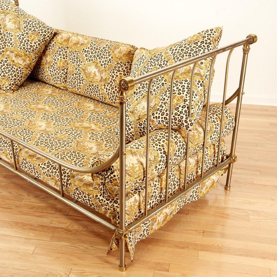 Maison Jansen style brass, steel campaign bed - 5