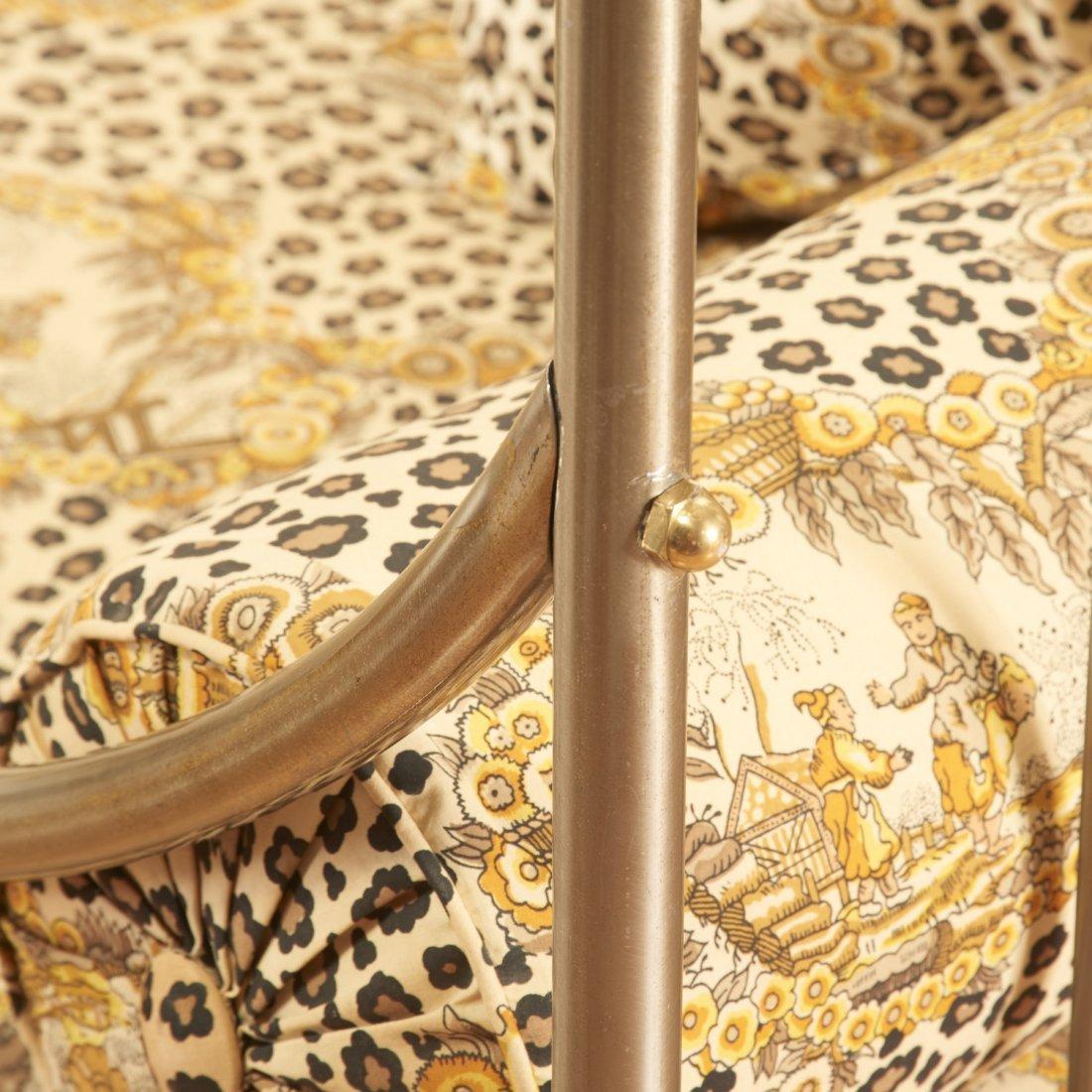Maison Jansen style brass, steel campaign bed - 6