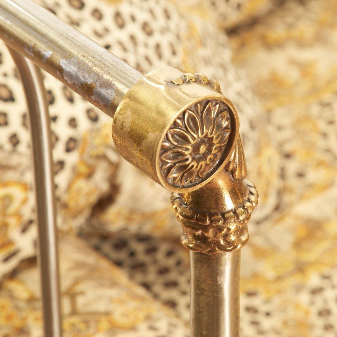 Maison Jansen style brass, steel campaign bed - 7