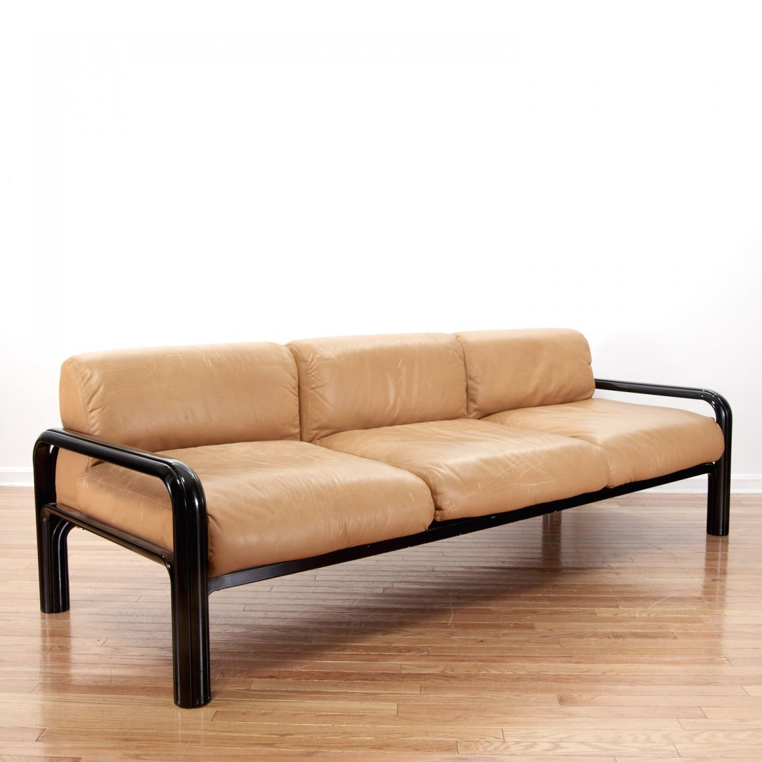 Gae Aulenti for knoll leather sofa - 2