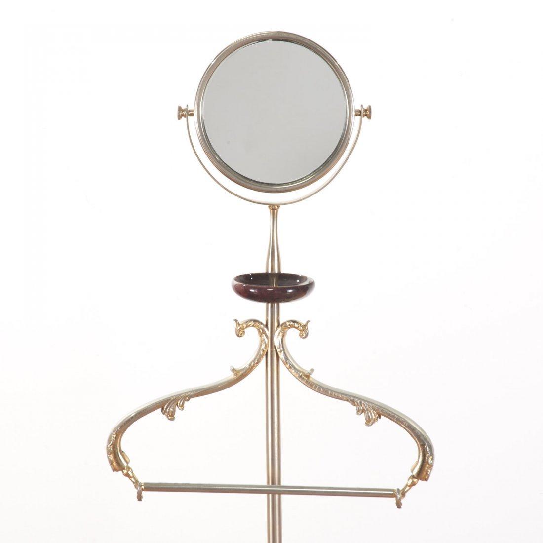 Aldo Tura lacquer, parchment valet/vanity stands - 3