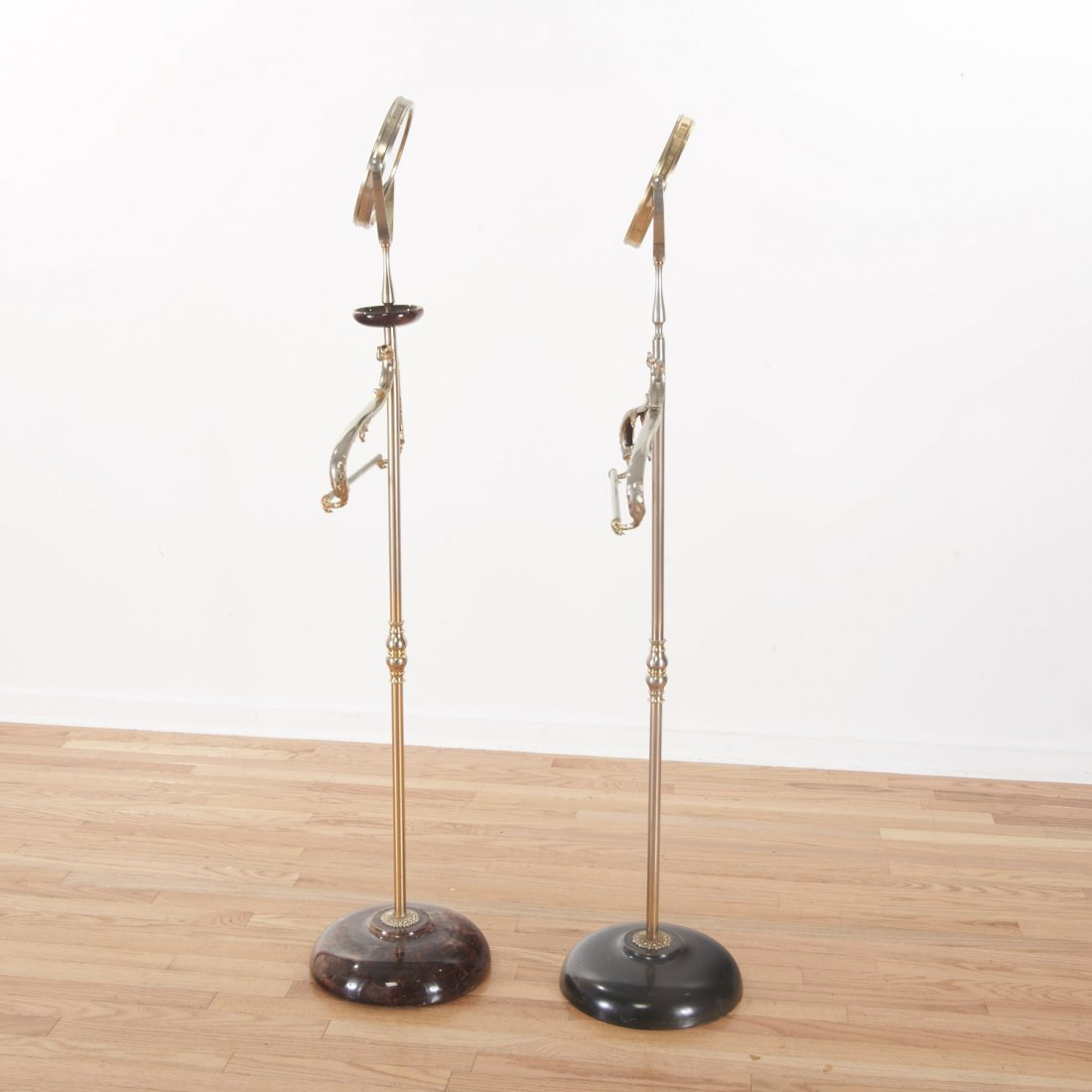 Aldo Tura lacquer, parchment valet/vanity stands - 6