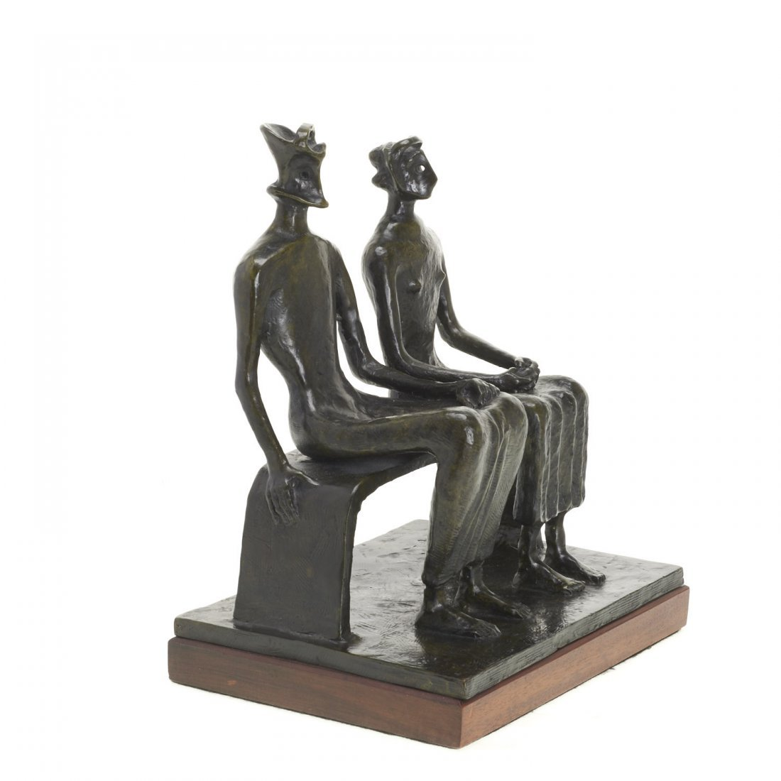 After Henry Moore, bronze sculpture - 2