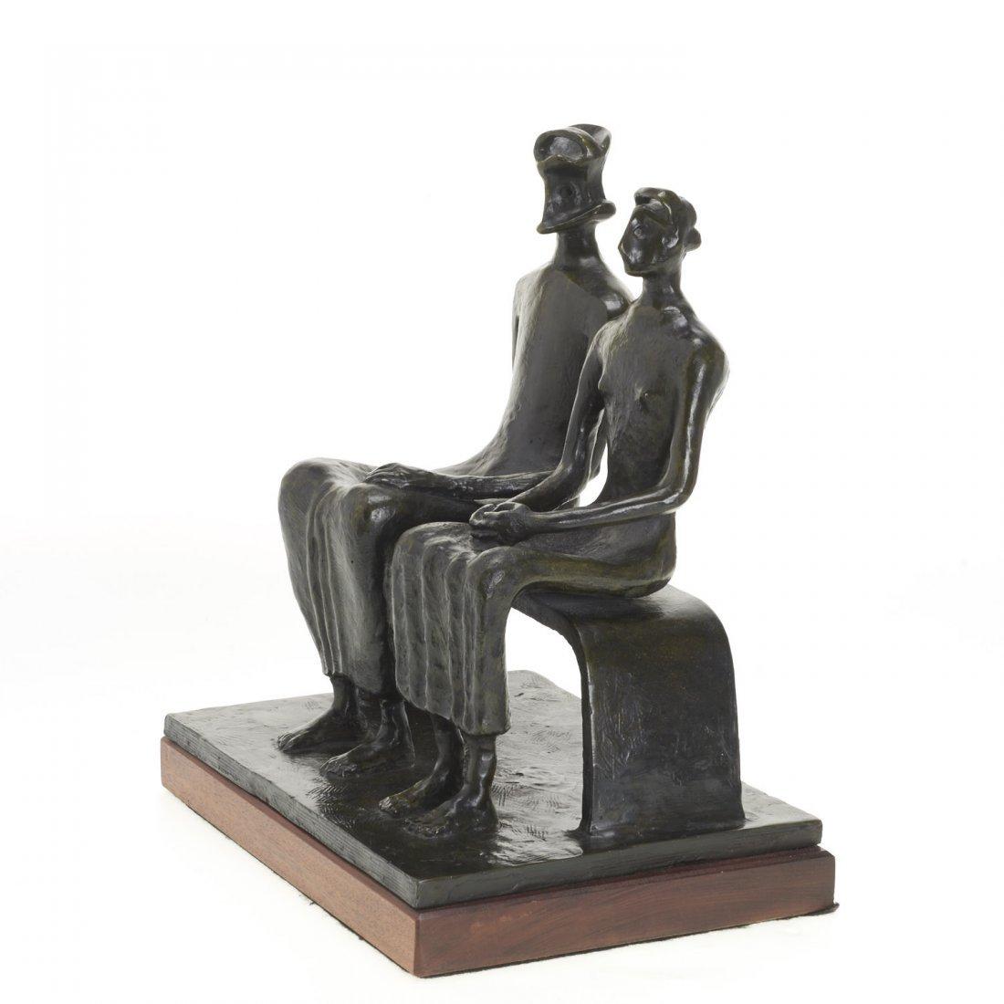 After Henry Moore, bronze sculpture - 3