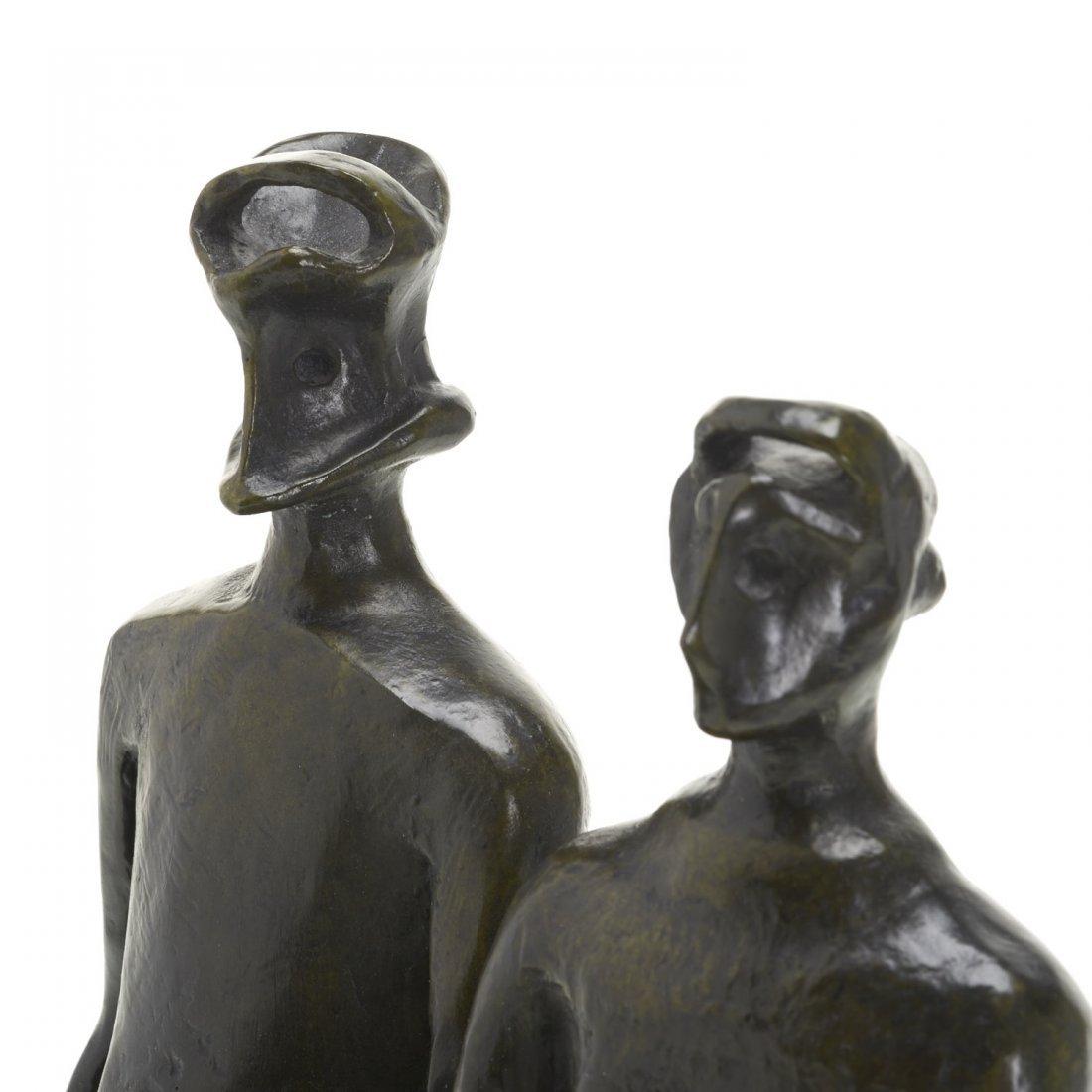 After Henry Moore, bronze sculpture - 4
