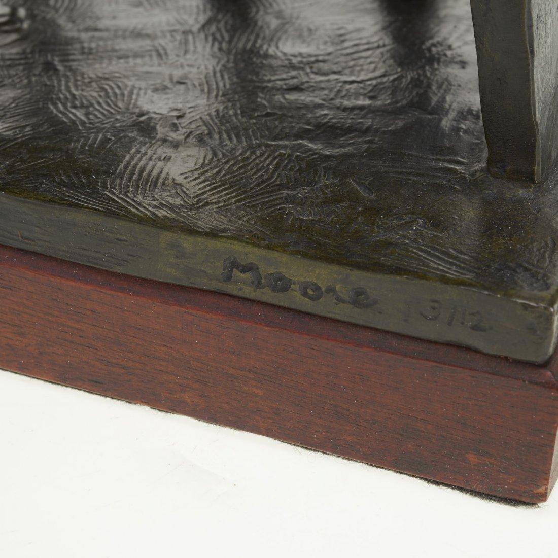 After Henry Moore, bronze sculpture - 6