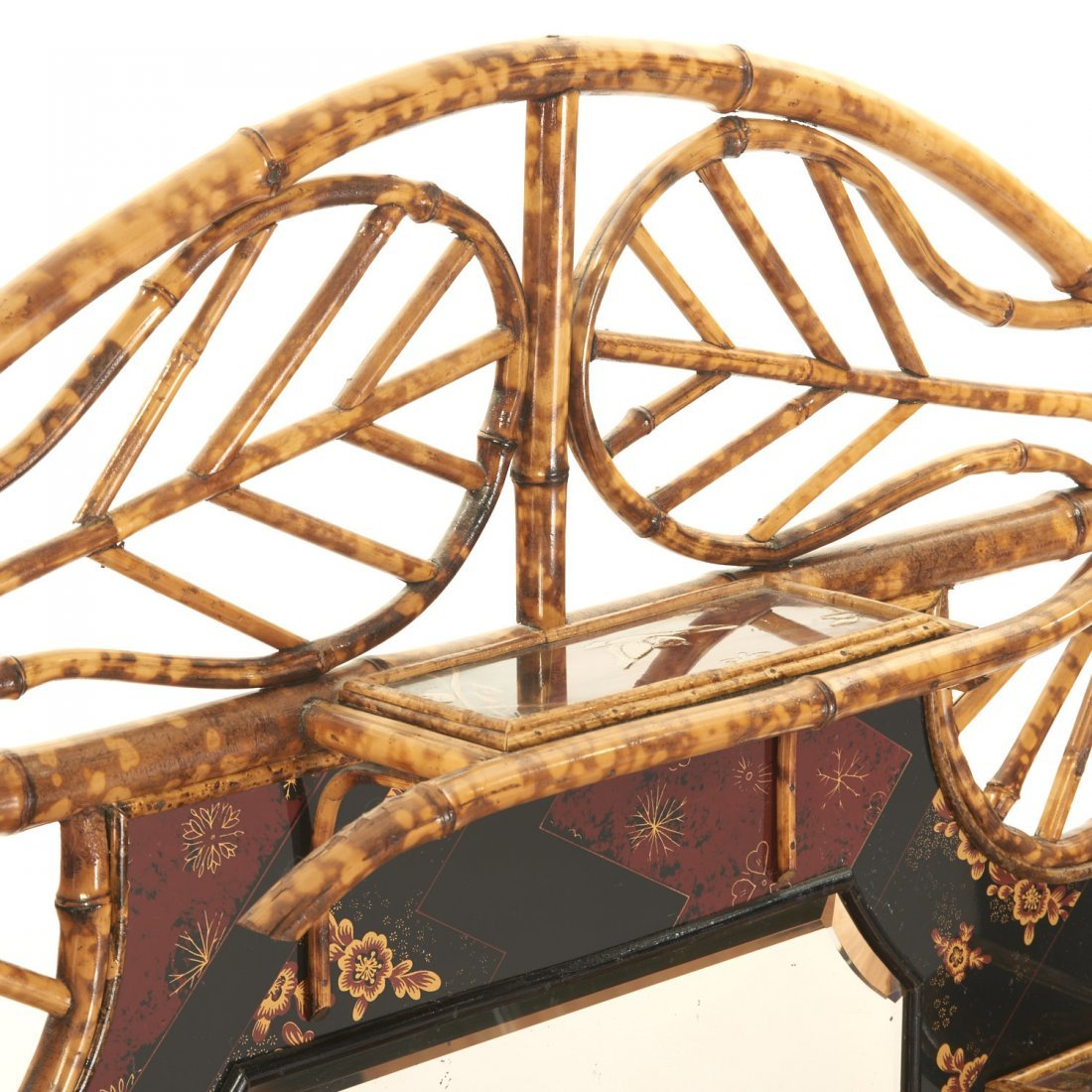 Victorian style chinoiserie lacquer etagere - 7